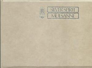 ROLLS-ROYCE-SILVER-SPIRIT-BENTLEY-MULSANNE-1982-Handbuch-Owner-s-Manual-BA