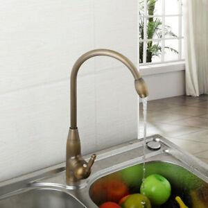 Peachy Uk Single Lever Taps Antique Brass Kitchen Sink Swivel Mixer Interior Design Ideas Clesiryabchikinfo