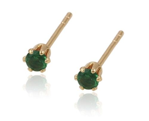 18ct Gold Filled Gemstone 3mm Stud Earrings