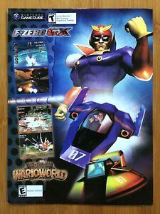 F-Zero GX / Wario World Gamecube 2003 Print Ad/Poster Original Official Wall Art