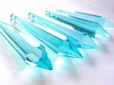 5 Green 80mm Icicles Chandelier Crystals Pendant Suncatcher