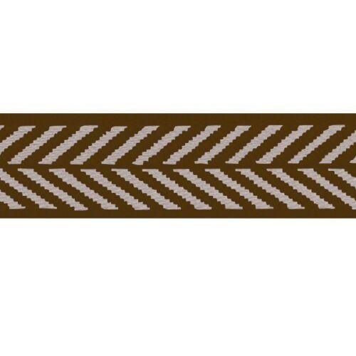 5m ou 15m Berisfords Ruban Polyester chevrons Craft 16 x 2m