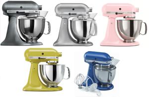 KitchenAid-Stand-Mixer-tilt-5-Quart-ksm150ps-Artisan-Silver-Or-Pearl-Metallic