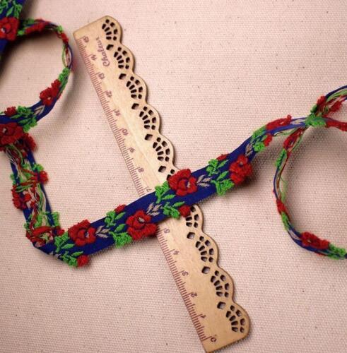 Vintage embroidery Flowers lace Ribbon Trim Decorative DIY crafts clothing 1.5cm