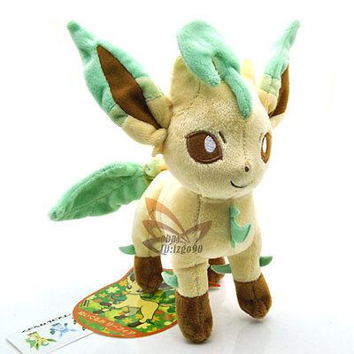 "New 8"" LEAFEON Pokemon Rare Soft Plush Toy Doll/PC1856"