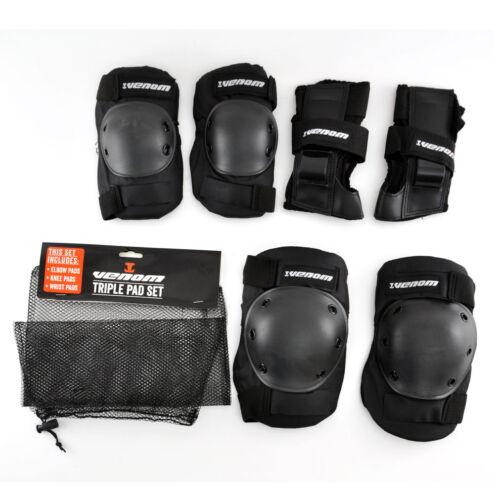 Junior Venom Pads Kids Skateboard//Skate//Skating Knee//Elbow//Wrist Pad Set