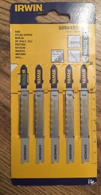 IRWIN 10504220 Metal Cutting Jigsaw Blades Pack of 5 T118A
