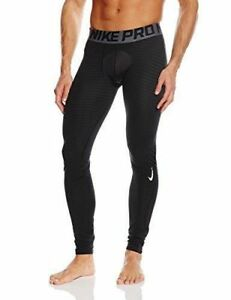 Nike Pro Warm Training Tights Full Length Pants Black 725039-010 Size XL NEW