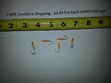 Lot of 5 ice fishing jigs heads about 1/32 oz Lures