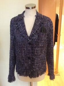 Riani £ Size £ Jacket Ora Green 175 Bnwt 439 16 Purple 4058054667584 Tweed Rrp qF4Cq