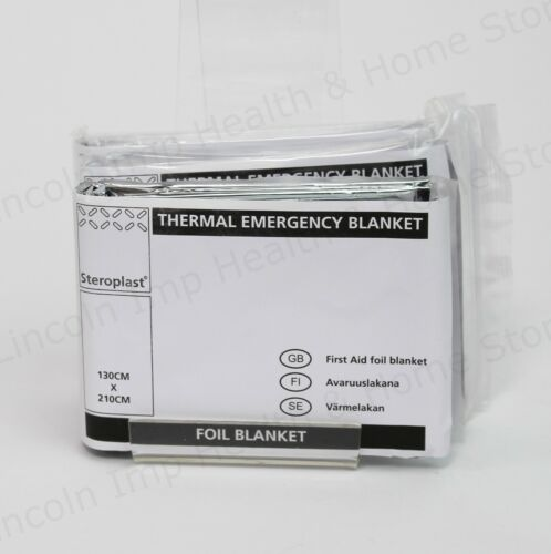 Shock Rescue Hypothermia /& Survival. Thermal Emergency First Aid Foil Blanket
