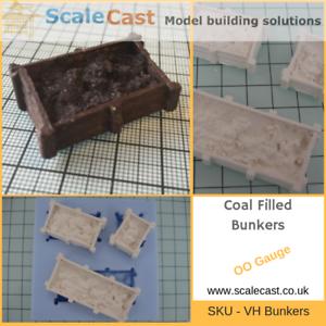 Coal filled Bunkers Model railway scenery mould OO Gauge Cast your own
