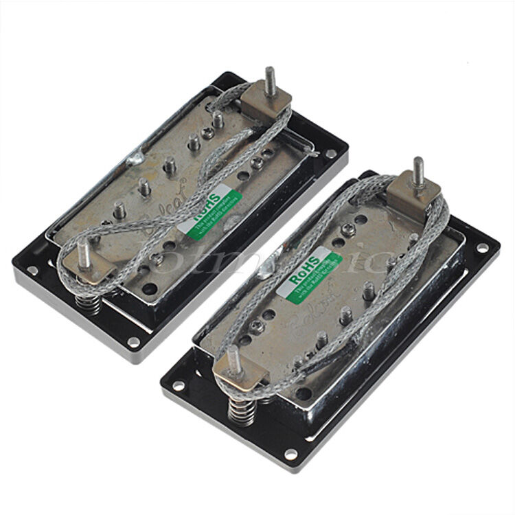guitar belcat alnico humbucker bridge neck pickups set for guitar parts chrome ebay. Black Bedroom Furniture Sets. Home Design Ideas