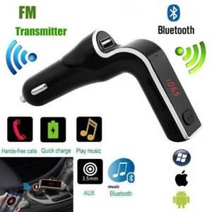 Car-Bluetooth-Kit-FM-Transmitter-MP3-Player-Handsfree-Radio-Adapter-USB-Charger