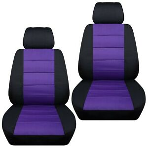 Fits-2009-2013-Mazda-3-front-set-car-seat-covers-black-and-purple