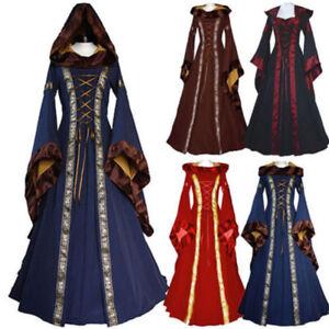 eaaa5f9821a Chargement de l image en cours Halloween-Femme-Robe-Medieval-Costume- Deguisement-Renaissance-Cosplay-