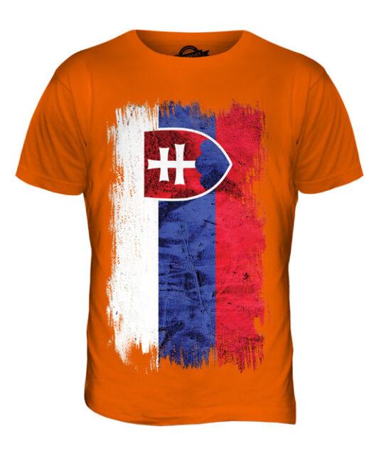 Slovak Republic Shred Flag Slovensko Slovakian Pride Mens V-neck T-shirt