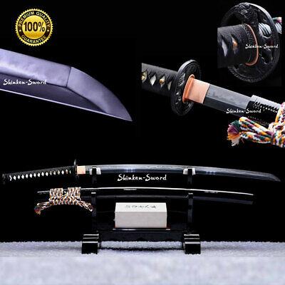 Japanese Samurai Clay Tempered T10 Choji Hamon Razor Sharp Blade Katana Sword