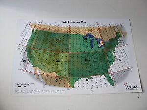 Grid square map amateur confirm