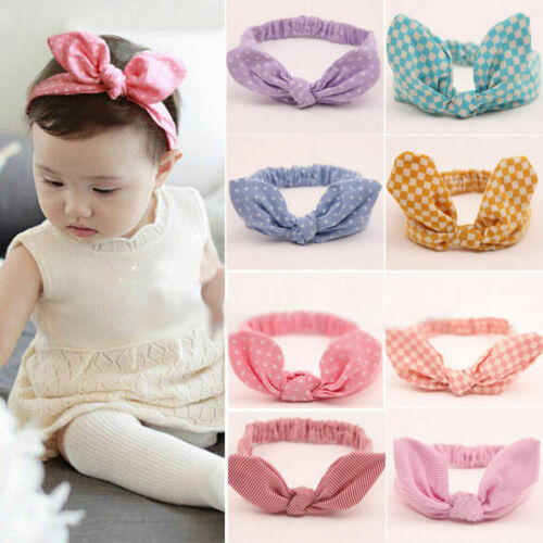 11 Pcs Kids Girls Baby Toddler Cute Rabbit Ear Headband Hair Band Bow Headwear