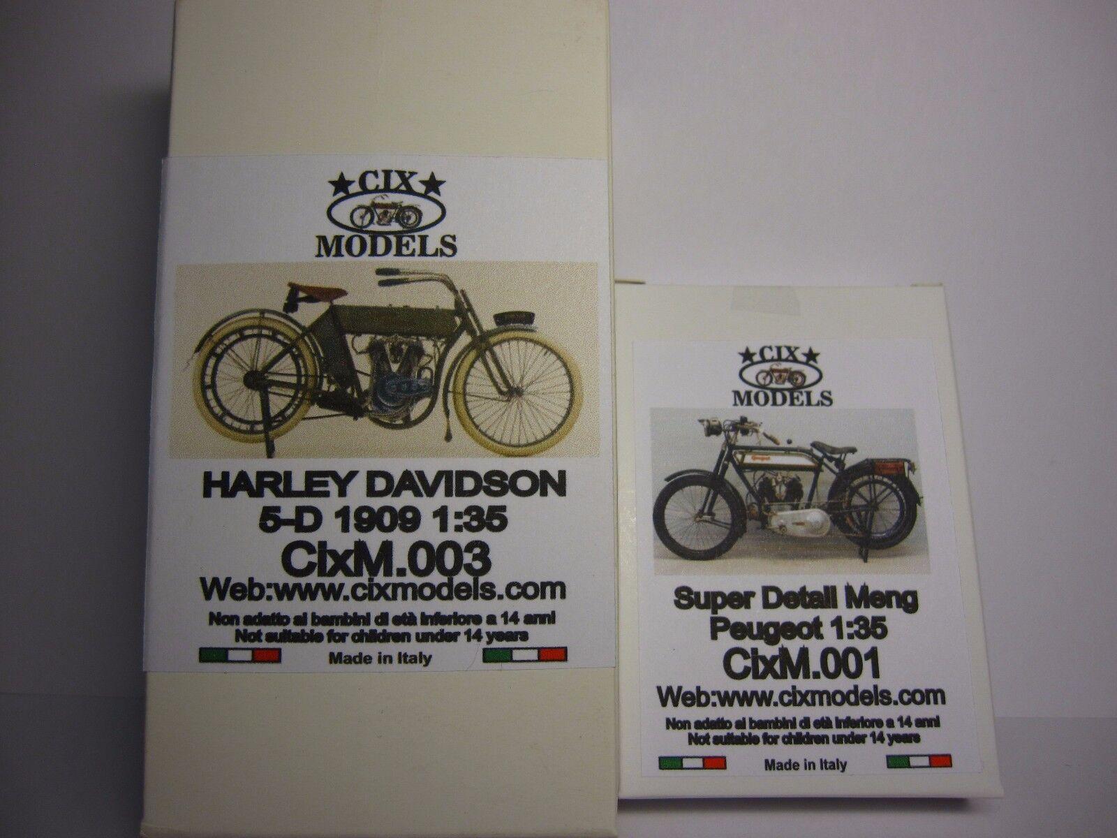 CIXMODELS 1 35 CixM003 HARLEY 5D +  DETAIL PEUGEOT CixM001 (NO MODEL VICTORIA )