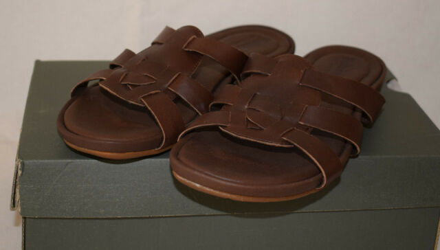 a4144fabee5b Timberland Earthkeepers Pleasant Bay Slide Brown Leather Mules Sandals UK4.5