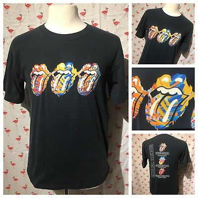 Rolling Stones Distressed Lips Dark Heather Grey T Shirt New Official Band Soft