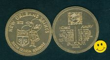 1972 NEW ORLEANS SAINTS - 6th Year Football Schedule Doubloon Coin-Falstaff Beer