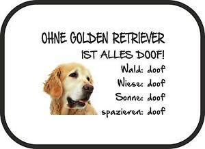 auto sonnenschutz ohne golden retriever ist alles doof 2er set hund sa0008 ebay. Black Bedroom Furniture Sets. Home Design Ideas