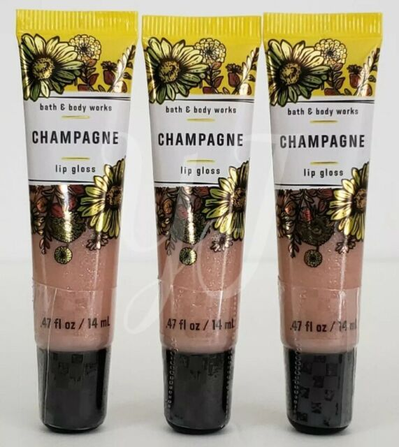 BATH AND BODY WORKS LIP GLOSS - CHAMPAGNE - LOT OF 3 - SEALED - NEW