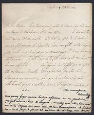 Maria Carolina Queen of Naples & Her Debts 1802 Signed Letter Marie Antoinette