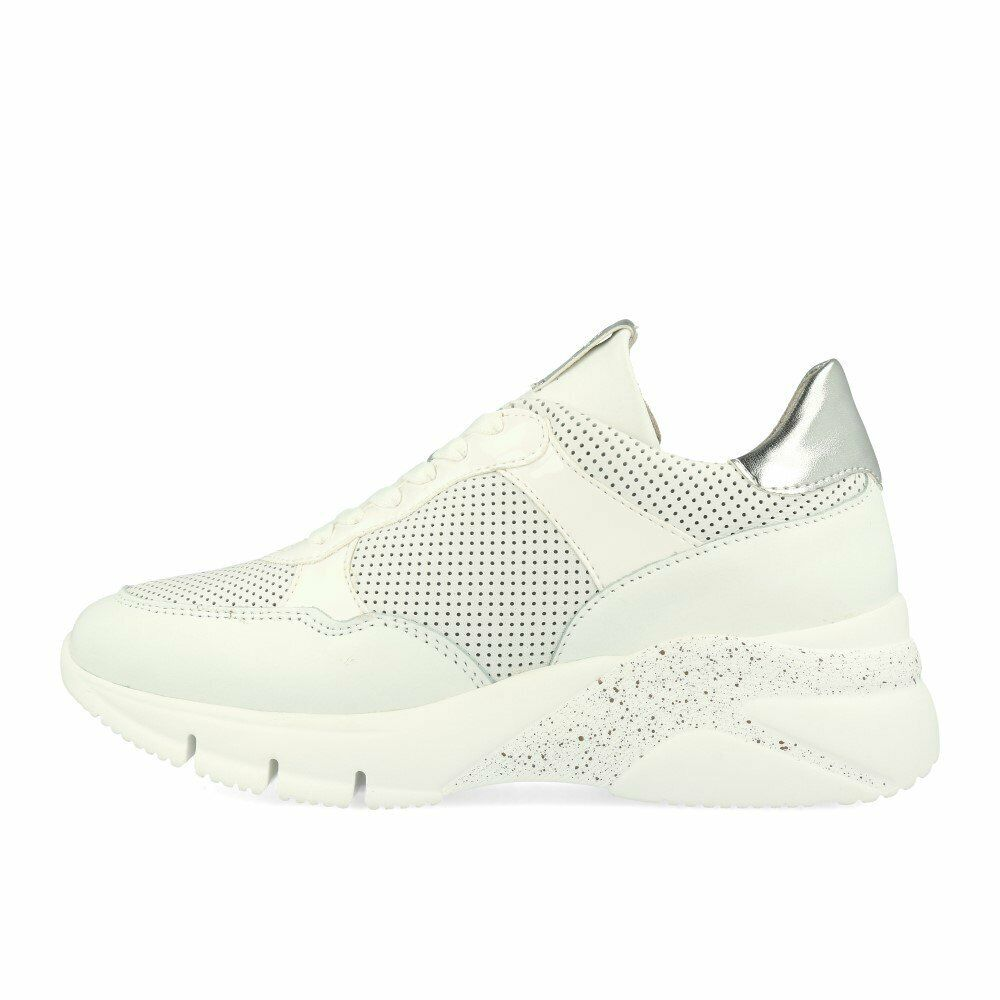 Tamaris 23793-32 Turnschuhe Weiß Silber Schuhe Turnschuhe Weiß Silber