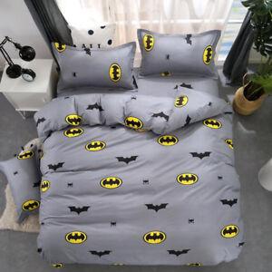 Batman-2-3pcs-Gray-Duvet-Cover-Set-Twin-Queen-Size-Bedding-Set-Pillowcase-US