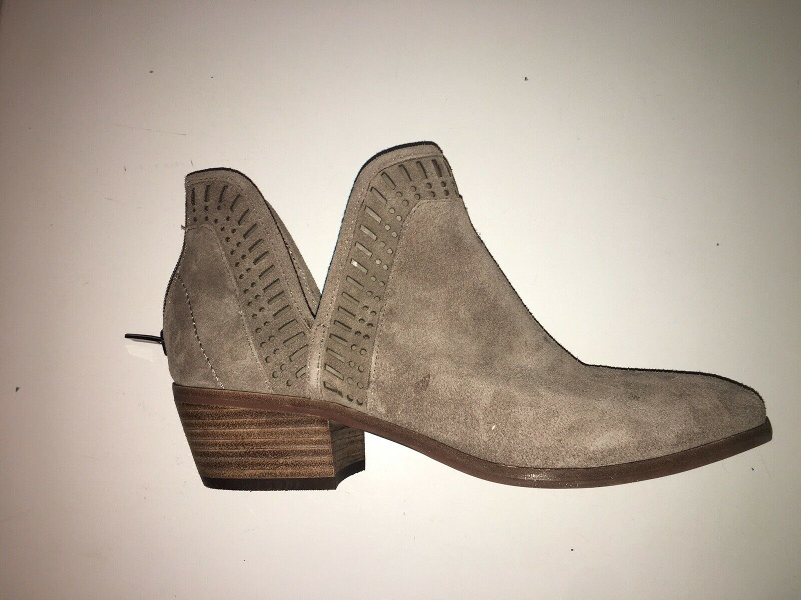 Vince Camuto Suede Side Cut Ankle Bootie color  Dark Taupe Size  9