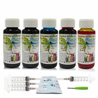 5x100ml Refill Premium Ink Kit For HP74 74XL 75 75XL Black & Color Ink Cartridge