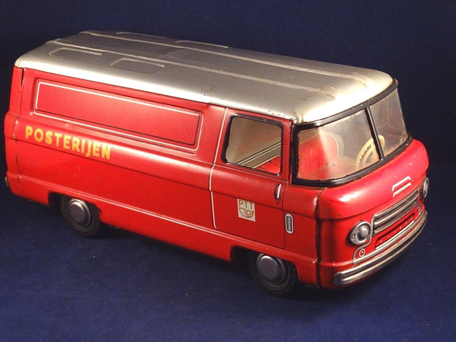 Ancien jouet camion fourgon postal tôle PTT néerlandais H JAPAN années 50 60