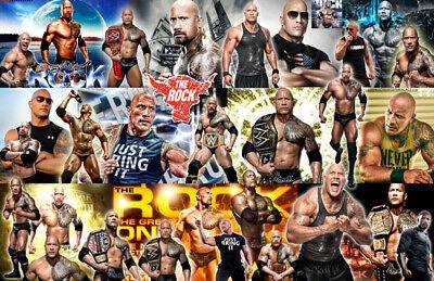 "Collage Poster /""THE ROCK/"" Dwayne Johnson WWE"