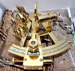Nautical Ship Instrument Astrolabe Marine Brass Sextant _ By Masco-Nauticals
