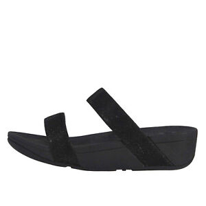 880b5827a6cc Fitflop LOTTIE GLITZY SLIDE Black Women s Arch Support Sandals R23 ...