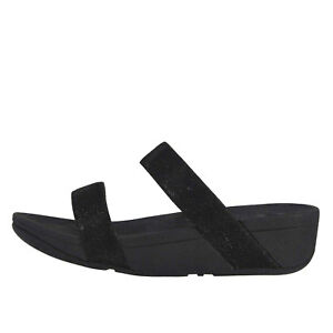 fa0361cb3bcf Fitflop LOTTIE GLITZY SLIDE Black Women s Arch Support Sandals R23 ...