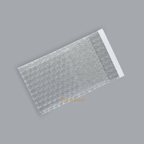 """200 Clear Bubble Pouches Envelope Package Bag 4.5/"""" x 7/""""/_115 x 180+30mm/_SELF SEAL"""