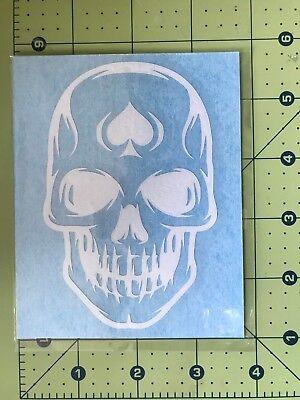 SKULL MECHANIC Vinyl Decal DieCut Sticker Window Helmet Toolbox Vehicle #373