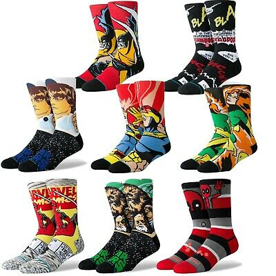 Stance Anthem Socks Men/'s Deadpool Stripe Marvel Crew Red Socks Large 9-13 New