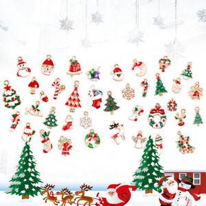 EE-19PCS-CHRISTMAS-TREE-HANGING-BELL-SNOWMAN-ELK-SHAPE-PENDANT-XMAS-PARTY-ORNAM