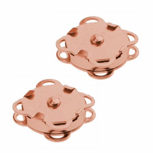 50 un 14//18mm Botones Snap Broches Sujetadores cierre magnético para bricolaje artesanías de bolsa