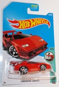 2017 hot wheels 152 tooned series 6 10 red lamborghini countach quot. Black Bedroom Furniture Sets. Home Design Ideas