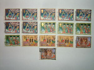 1986 CHRISTMAS STAMPS SELECTION x 16 VFU sg13416 CV 1040 - Walton-on-Thames, Surrey, United Kingdom - 1986 CHRISTMAS STAMPS SELECTION x 16 VFU sg13416 CV 1040 - Walton-on-Thames, Surrey, United Kingdom