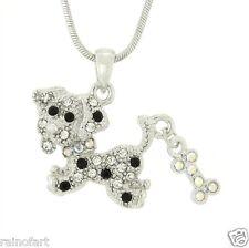 BEAGLE W Swarovski Crystal DOG Bone Puppy Pet Friend Gift Pendant Necklace Charm