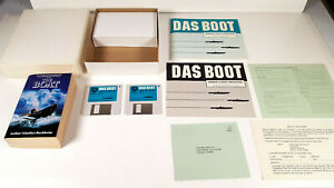 DAS-BOOT-German-U-Boat-Simulation-Book-Amiga-Spiel-Disketten-VGC-OVP-Boxed