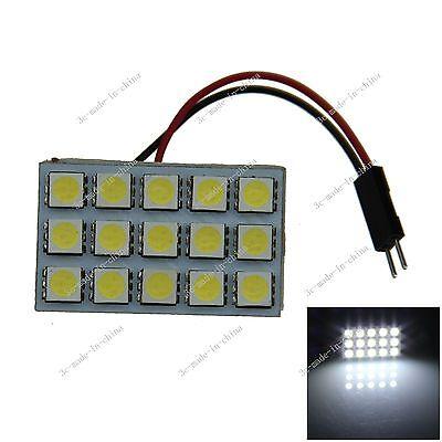 1pcs White 15 5050 SMD LED Festoon Dome/Door/Box Light Panel Interior Bulb J004